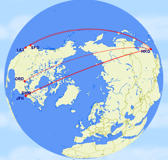 World Elite Cathay Pacific Gatway Cities