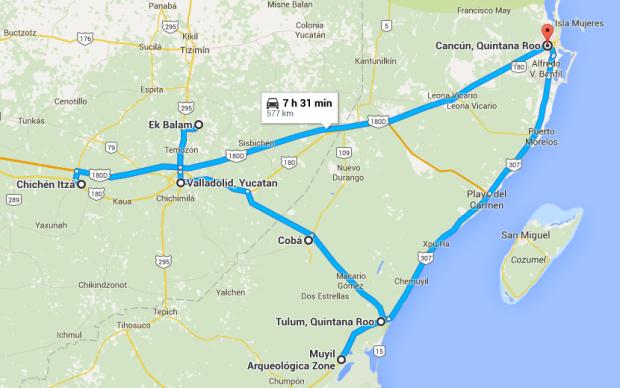 GooogleMap Mexico Trip.png