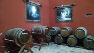The aging process, 200 litre white oak barrels.