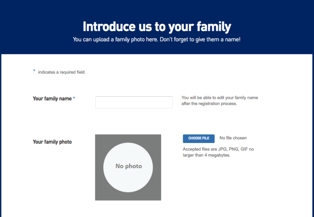 Step 3 Name Family